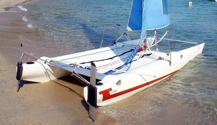beach, sea, catamaran